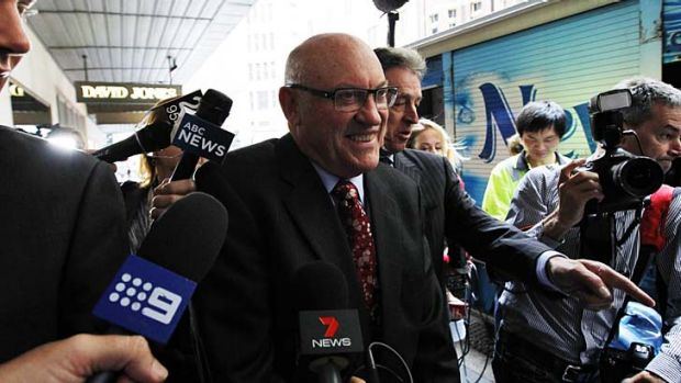Ian Macdonald arrives at the ICAC inquiry.