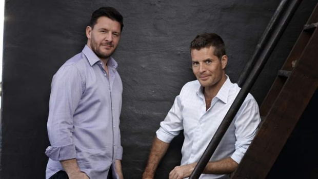 Manu Feildel and Pete Evans from <i>My Kitchen Rules</i>.