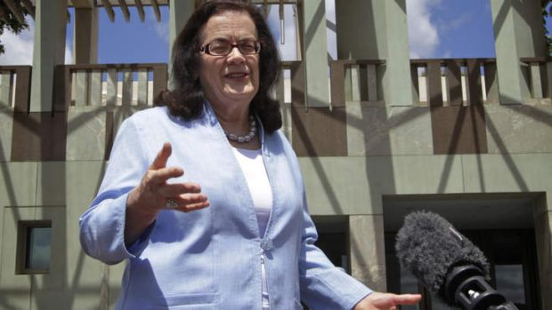 Michelle Grattan after announcing she was departing <i>The Age</i>.