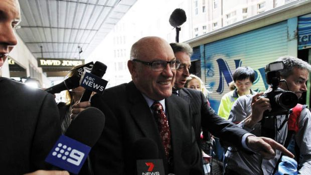 Ian McDonald , former minister arrives to give evidence at ICAC.