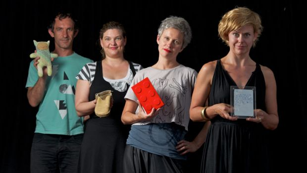 Heartfelt: Organisers of the hArtefacts exhibition Pierre Proske, Marissa Cooke, Jodi Newcombe and Jodie Aherns.