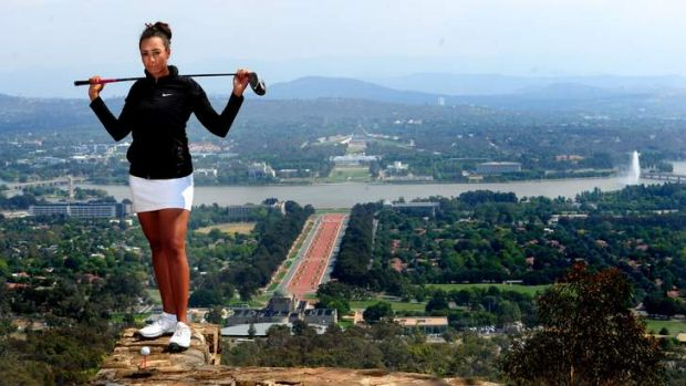 Golfer Cheyenne Woods will compete in the 2013 Australian Women's Open at Royal Canberra.