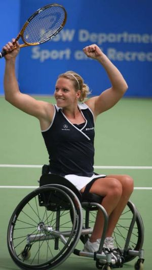 Retiring ... Dutch wheelchair tennis player Esther Vergeer
