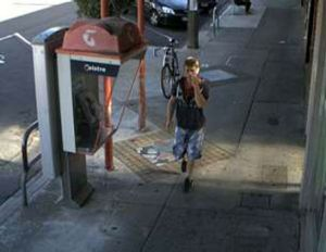 Police want to speak to this man, pictured in Station Street, Fairfield.
