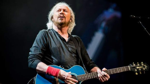 SMH METRO: Barry Gibb - Mythology Tour at Sydney Entertainment Centre, 8th February 2013. Pictured: Barry Gibb Photo ...