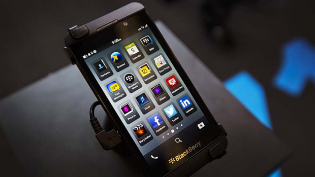 Licensing possibilities ... the new Blackberry Z10 smartphone.