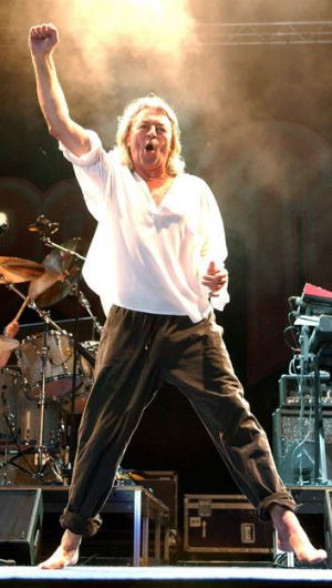 Rock on … Deep Purple's Ian Gillan.