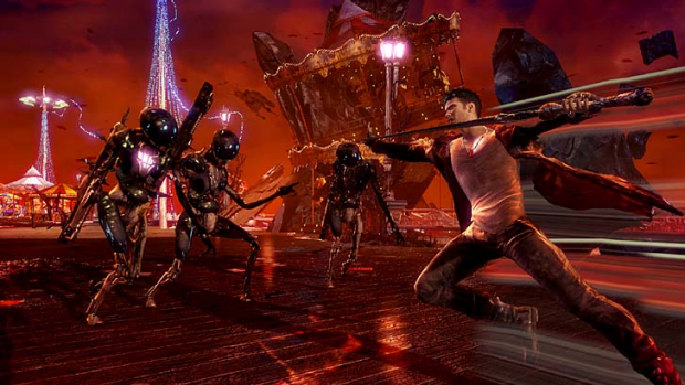 A screenshot of <em>DmC: Devil May Cry</em>.