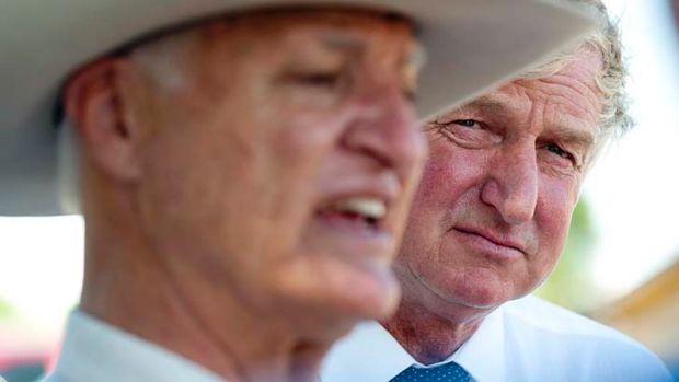 Ray Hopper, pictured with Bob Katter, will run for a senate seat.