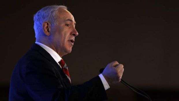 Israel's Prime Minister Benjamin Netanyahu addresses the Conference Of Presidents of Major American Jewish Organizations ...
