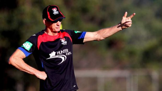 Newcastle NRL coach Wayne Bennett at a Knights training session. Bennett has expressed frustration that if Australian ...