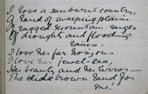 The State Library of NSW is to digitise Dorothea MacKellar's poems.