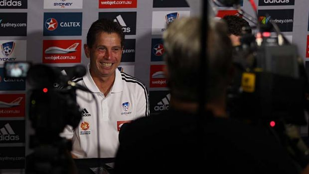 Permanent fixture ... Frank Farina has re-signed with Sydney FC for another two seasons.