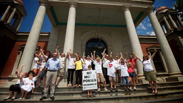 Members of Castlemaine anti-pokies group EPIC celebrate their tribunal win.