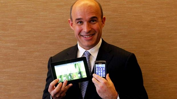 Stake sold ... former BlackBerry Co-CEO Jim Balsillie.