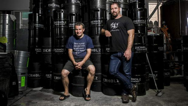 A group of craft breweries are organising a beer festival in Canberra. Zierholz's Christoph Zierholz and 1842's Mick ...