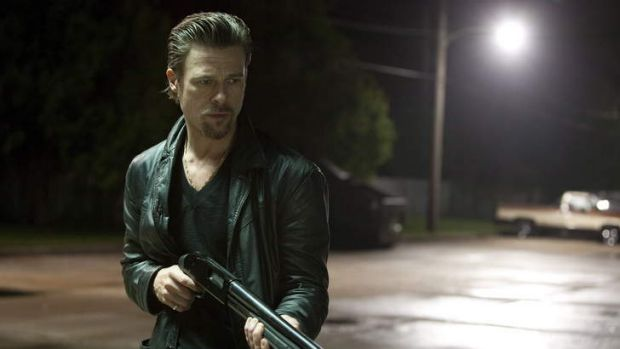 Brad Pitt in a scene from <i>Killing Them Softly</i>.