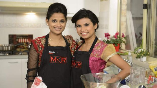 Entertainingly horrendous ... <i>My Kitchen Rules</i> contestants Jessie and Biswa.
