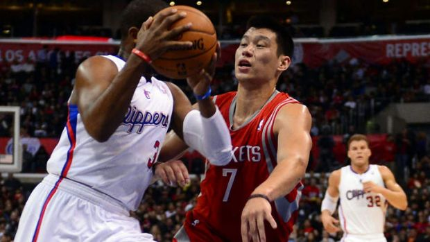 In the spotlight: Houston's Jeremy Lin (right) takes on Chris Paul of the LA Clippers this week.