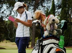 Lydia Ko shows her age through her iPod and club covers.