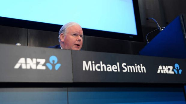 ANZ chief executive Mike Smith says he is upbeat about the state of China's economy.