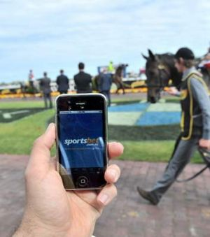 In the firing line: A Sportsbet app at Caufield.