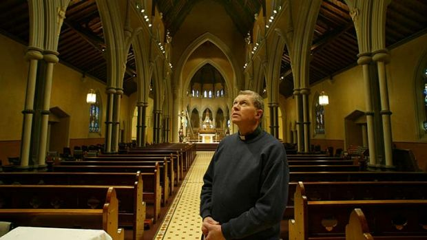 Father Kevin Dillon at St Mary's Church in Geelong.