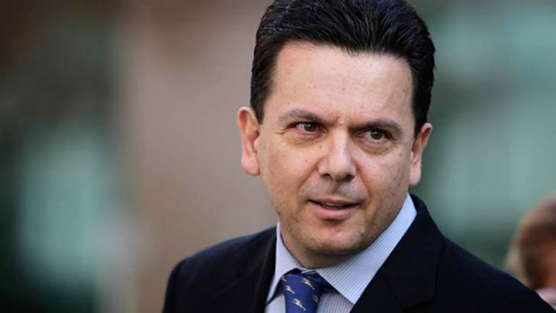 Detained ... independent senator Nick Xenophon.