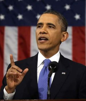 Sorry state ... President Obama addresses the US Congress.