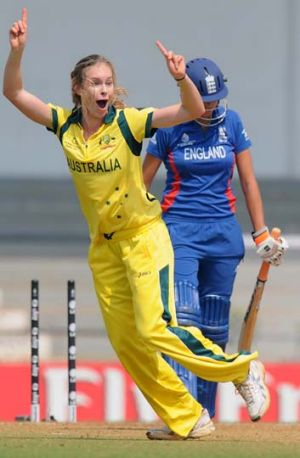 Making her point … Australia's Holly Ferling is striking a chord both on and off the pitch in a sport ...