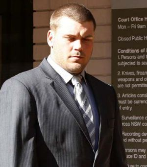 Easter release … Danny Wicks outside court in 2011.