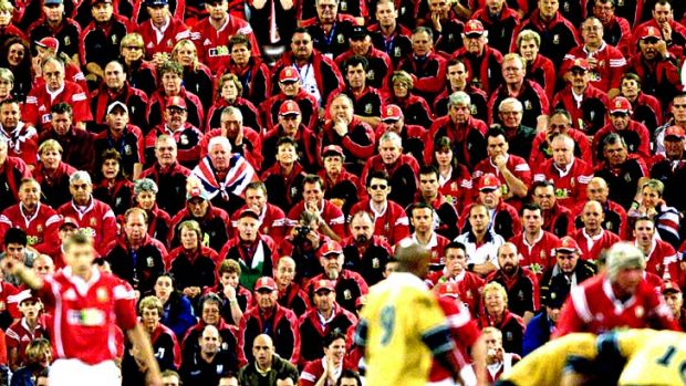 Formidable ... a sea of Lions supporters will again descend on Australia.