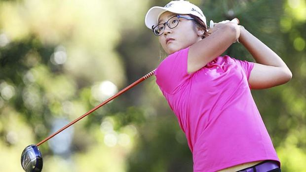 Swing's the thing: New Zealand's Lydia Ko tees off on day three of the women's Australian Open.
