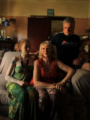 Wait and hope … Teressa Browne, with her husband, Colin, and daughter, Lilly-Anne.