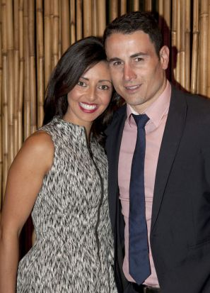 Barbara Licuria and her husband, Paul, at The Sisterhood cocktail party benefiting the cardiac research unit at St. ...