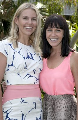At home in the world: Kate Bensimon (left) and Kate Keane at the Love Your Planet women?s lunch.