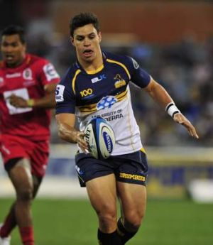 Sport Brumbies player Matt Toomua in action against the Reds at Canberra Stadium The Canberra Times 16 February 2013 ...