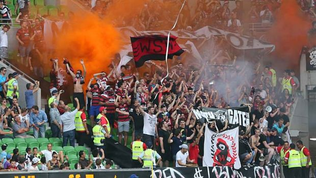 Travelling roadshow … Western Sydney fans added to the amazing atmosphere at AAMI Park on Saturday night and ...