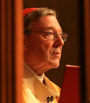 Pen to paper ... George Pell is one of 15 bishops to have signed the Lent pastrol letter.