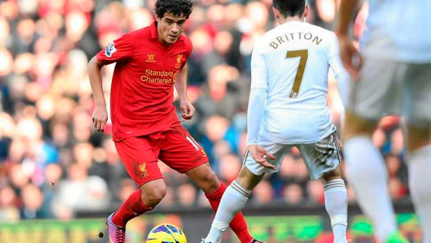 Philippe Coutinho of Liverpool.