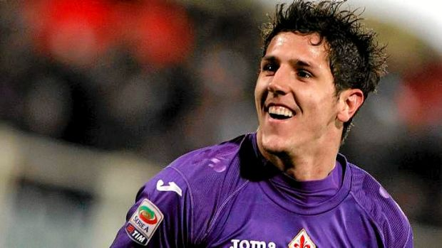 Fiorentina striker Stevan Jovetic.