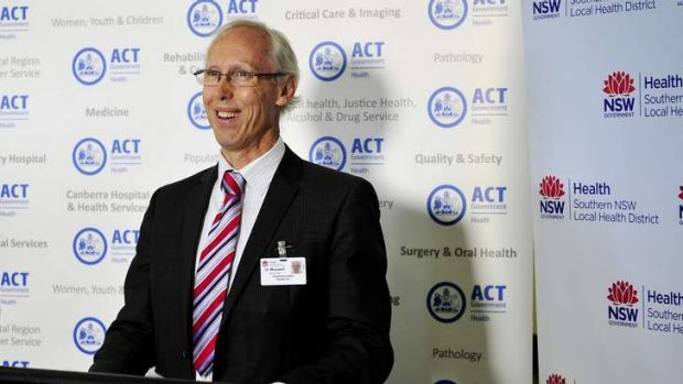 Queanbeyan Hospital Chief Executive Dr Alexander Maxwell at the launch.