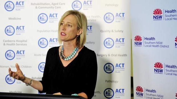 ACT Chief Minister  Katy Gallagher at Queanbeyan Hospital to launch a new education program.