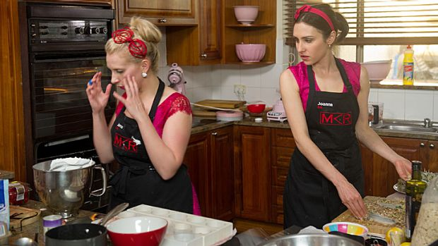 Pink-faced: Jenna, left, doesn't think she can pull through. Will this spell the end for Joanna as well?