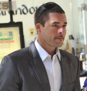 Corey Barker arrives at the Police Integrity Commission in Sydney last week.