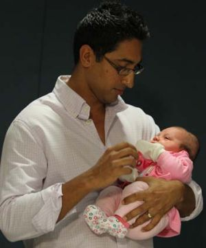 Peter De Silva with their baby Eloise.