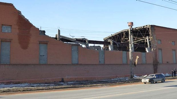 The Chelyabinsk Zinc Plant building was damaged when a meteorite passed over the city last week.