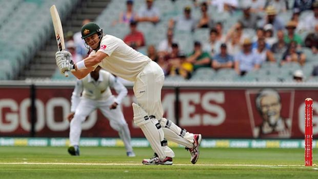 Shane Watson batted well in both innings of the game against India A.