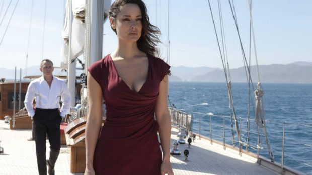 Bevy of women: Daniel Craig as James Bond with B?r?nice Marlohe, who plays Severine, in <i>Skyfall</i>.