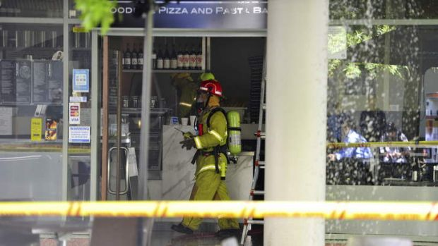 ACT Fire and Rescue attend a fire at the The Strip woodfire pizza and pasta bar in Woden.